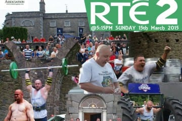 IRELAND STRONGEST MAN 2014 AIRED ON RTE2 THIS WEEKEND!!!