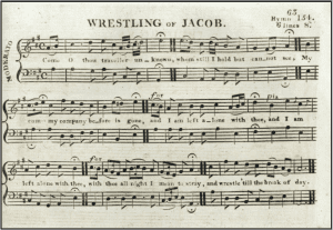 Detail from the Rev. William Smith's edition of 'Sacred Harmony', a tune book for Irish Methodist churches, published Dublin 1810
